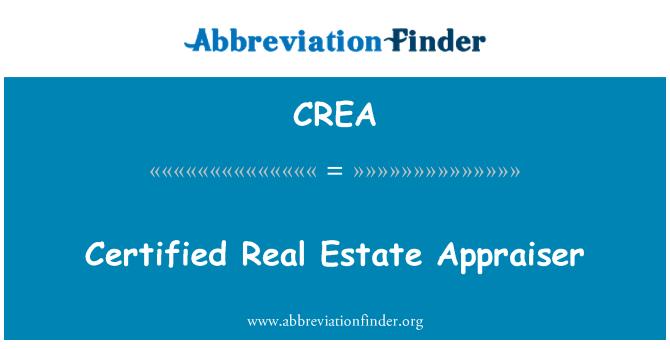 CREA: Certified Real Estate Appraiser
