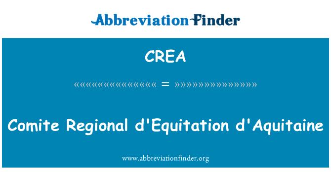 CREA: Comite Regional d'Equitation d'Aquitaine