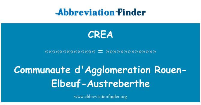CREA: Communaute d'Agglomeration Rouen-Elbeuf-Austreberthe