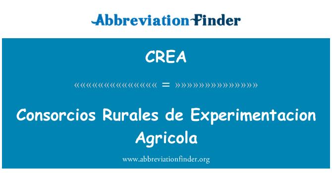 CREA: Consorcios Rurales de Experimentacion Agricola