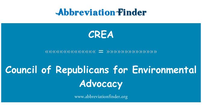CREA: Council of Republicans for Environmental Advocacy