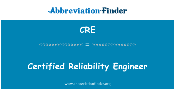 CRE: Certified Reliability Engineer