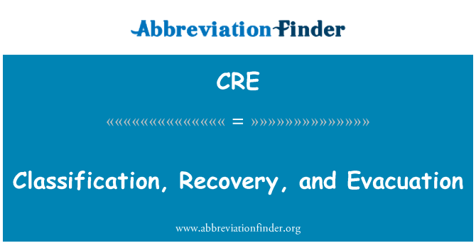 CRE: Classification, Recovery, and Evacuation