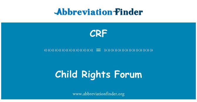 CRF: Child Rights Forum