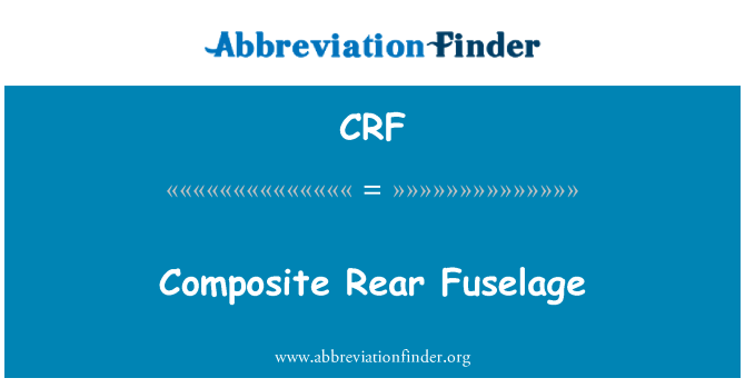 CRF: Composite Rear Fuselage