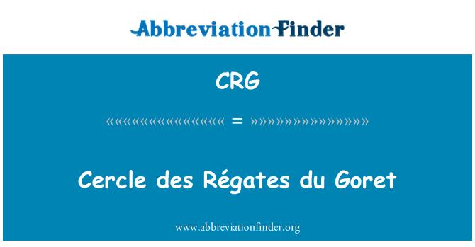 CRG: Cercle des Régates du Goret