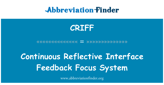CRIFF: Continuous Reflective Interface Feedback Focus System