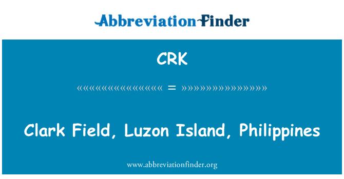 CRK: Clark Field, Luzon Island, Philippines