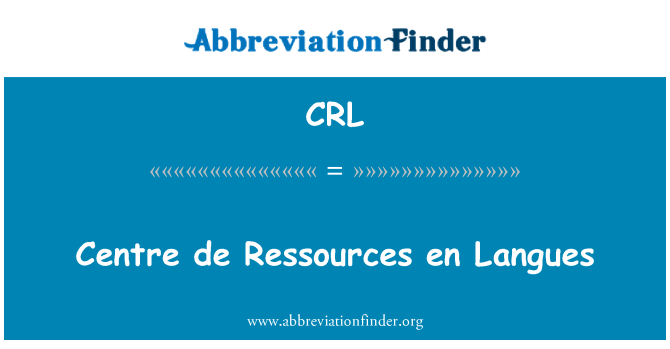 CRL: Centre de Ressources en Langues