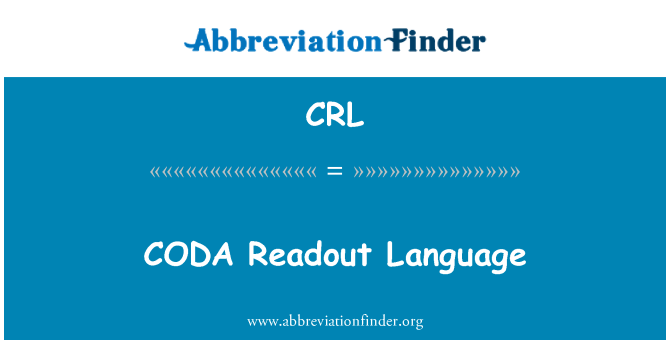 CRL: CODA Readout Language