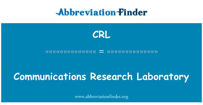 CRL: Communications Research Laboratory