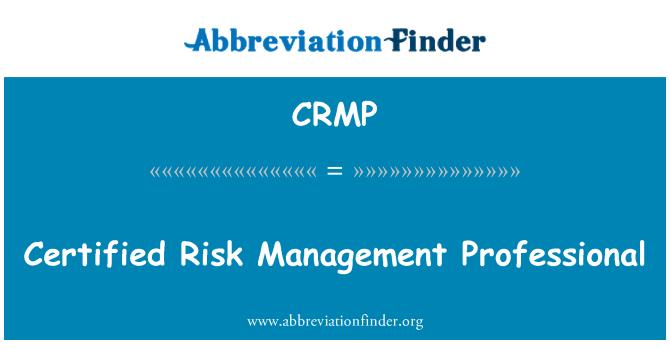 CRMP: Risk yönetimi profesyonel sertifikalı