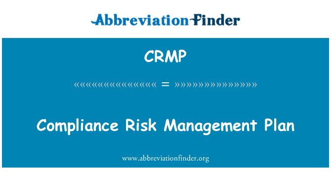 CRMP: Uyum Risk yönetimi planı