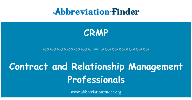 CRMP: Sözleşme ve ilişki yönetimi uzmanları