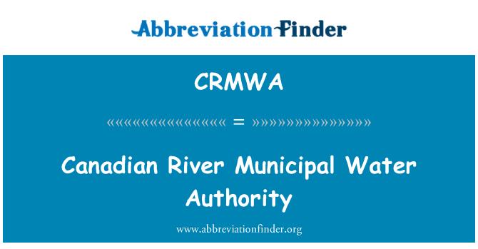 CRMWA: Canadian River Municipal Water Authority