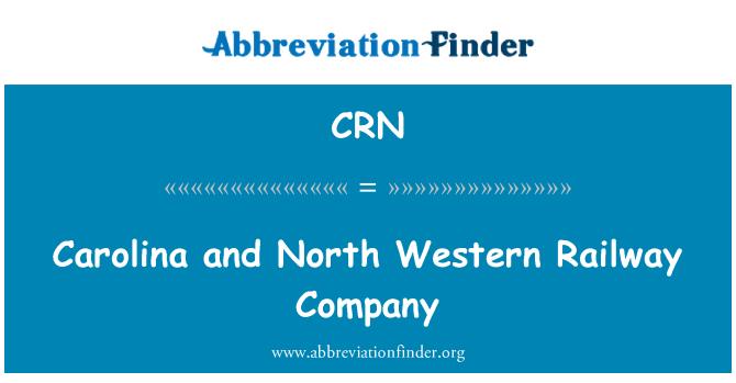 CRN: Carolina and North Western Railway Company