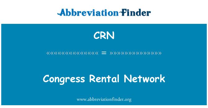 CRN: Congress Rental Network
