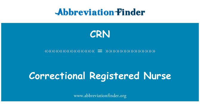 CRN: Correctional Registered Nurse