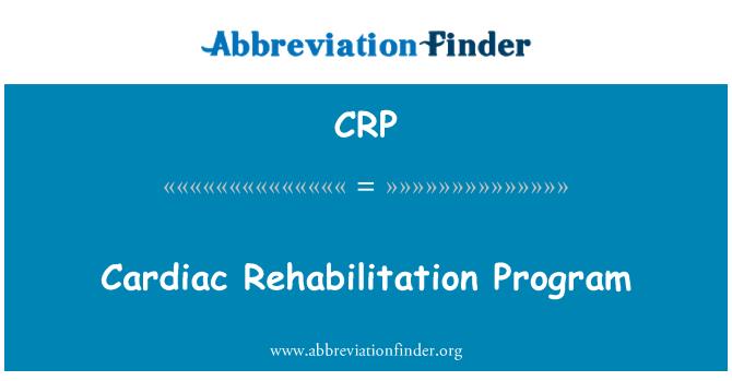 CRP: Cardiac Rehabilitation Program