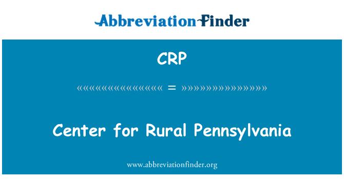 CRP: Center for Rural Pennsylvania