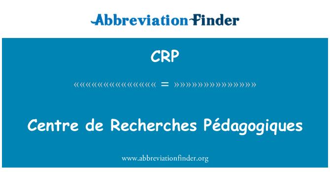 CRP: Centre de Recherches Pédagogiques