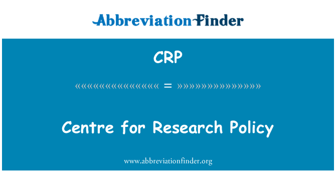 CRP: Centre for Research Policy