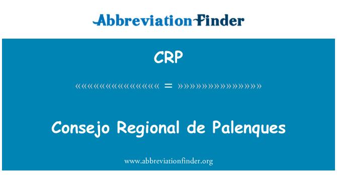CRP: Consejo Regional de Palenques