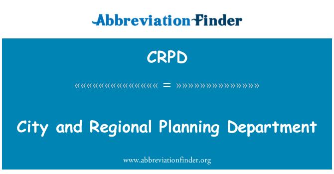 CRPD: Linna- ja piirkondliku planeerimise osakond