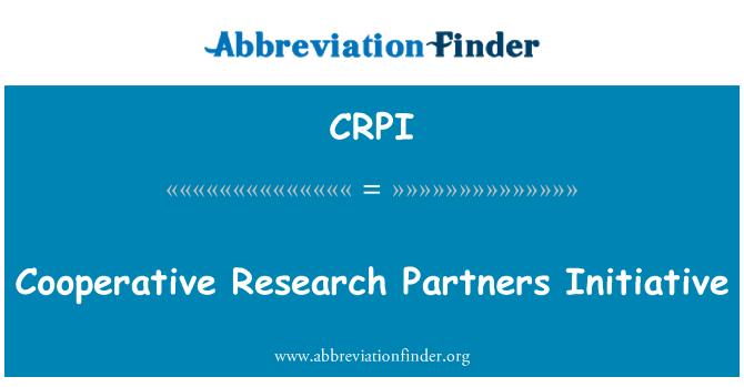 CRPI: Kooperativna istraživanja partneri inicijative