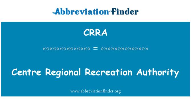 CRRA: Bölgesel rekreasyon yetkili Merkezi