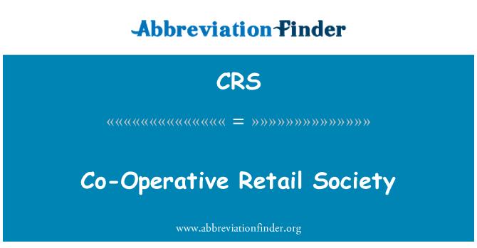 CRS: Co-Operative Retail Society
