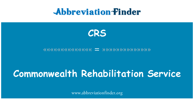 CRS: Commonwealth Rehabilitation Service