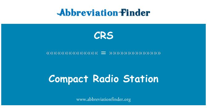 CRS: Compact Radio Station