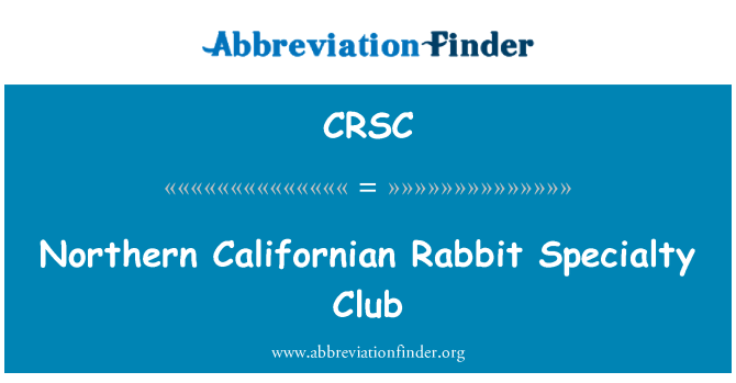 CRSC: Northern Californian Rabbit Specialty Club