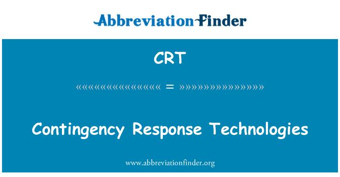CRT: Contingency Response Technologies