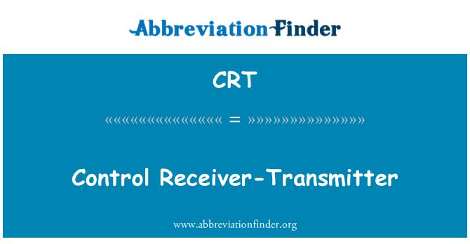 CRT: Control Receiver-Transmitter