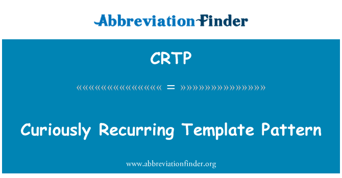 crtp curiously recurring template pattern crtp maxwellsz