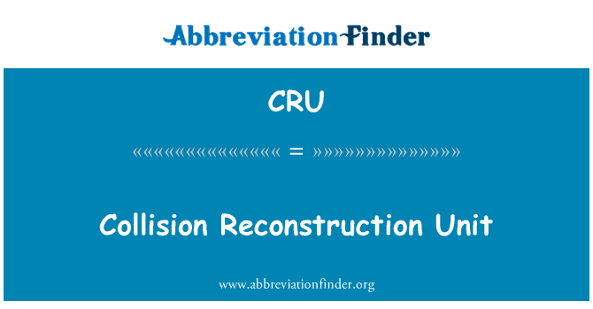CRU: Collision Reconstruction Unit