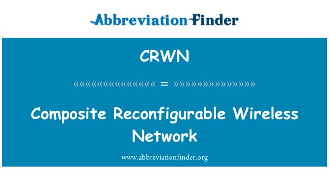 CRWN: Afich rezo Reconfigurable sans