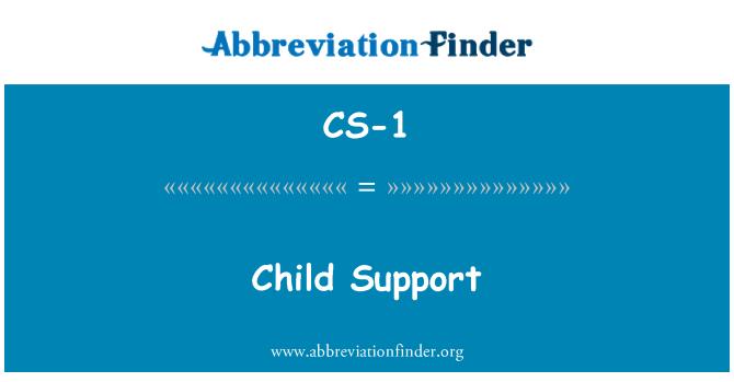 CS-1: 子女抚养费