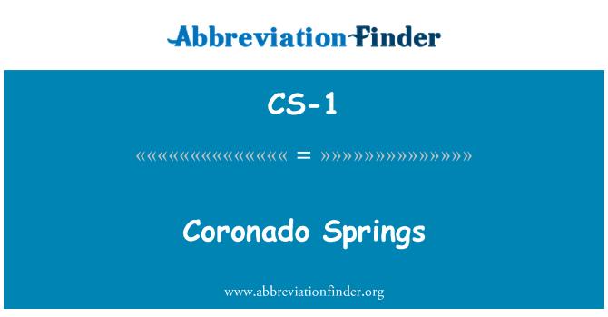 CS-1: کوروندو سپرنگز
