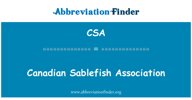 CSA: Canadian Sablefish Association