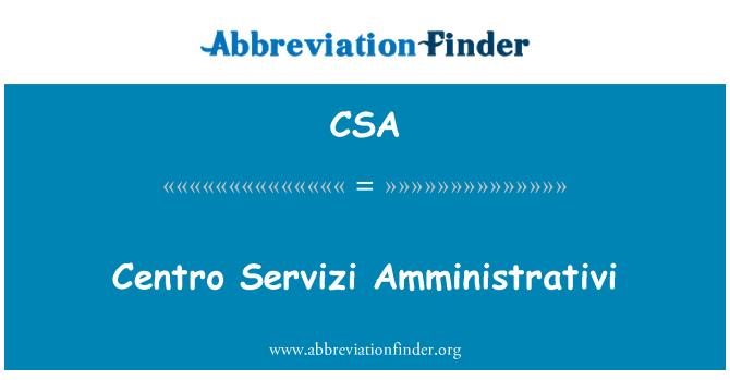CSA: Centro Servizi Amministrativi