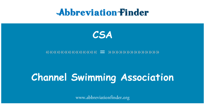 CSA: Channel Swimming Association