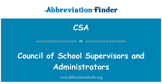 CSA: Council of School Supervisors and Administrators