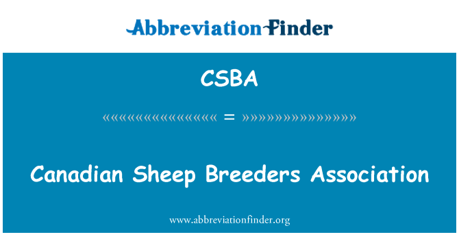 CSBA: Združenje rejcev kanadski ovce