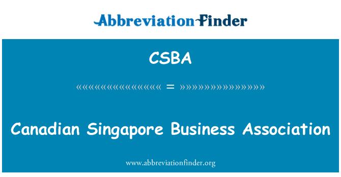 CSBA: Asociación de empresas de Singapur canadiense