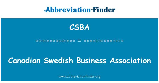 CSBA: Канадские шведский бизнес ассоциация