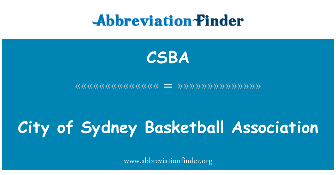 CSBA: Byen af Sydney Basketball Association