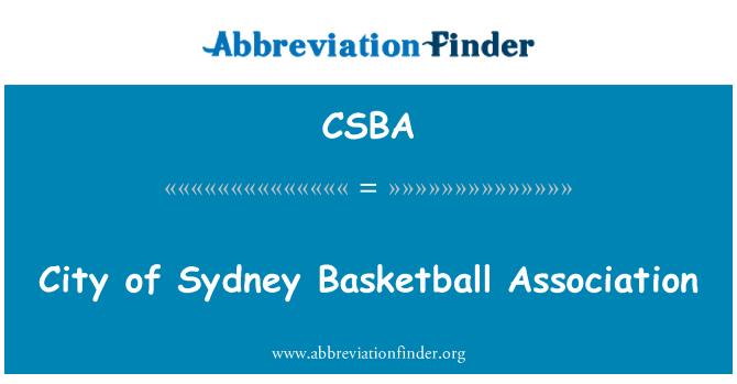 CSBA: Asociación de baloncesto de la ciudad de Sydney